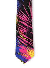 Multi Neon Palm Leaf 5cm Tie, $20.00