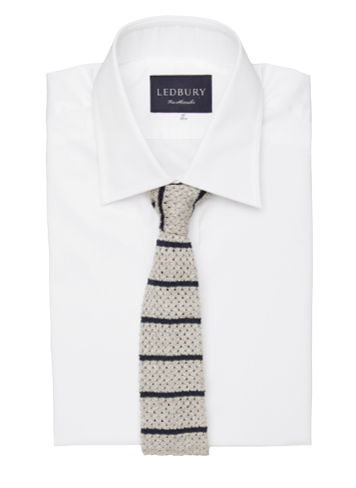 The Paxton Stripe Knit Tie, $85.00