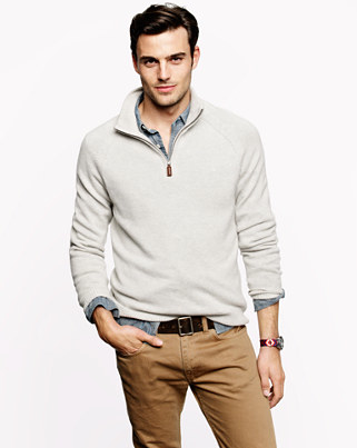 Cashmere Half-Zip Sweater, $298.00