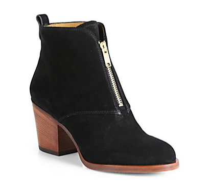Boy Meets Girl Suede Zipper-Trimmed Ankle Boots, $398.00