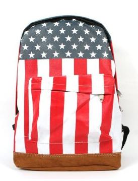 Tobey Unisex Canvas US Flag Shoulder Bag, $12.29