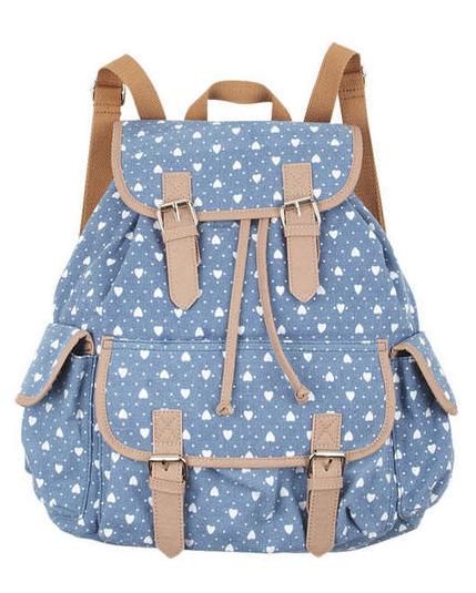 Printed Canvas Backpack, $14.99