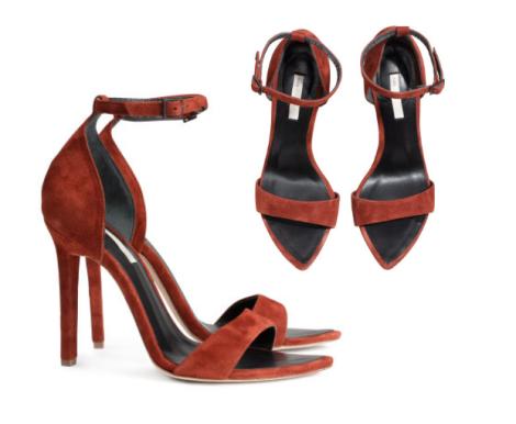 $99, Suede Sandalettes, H & M