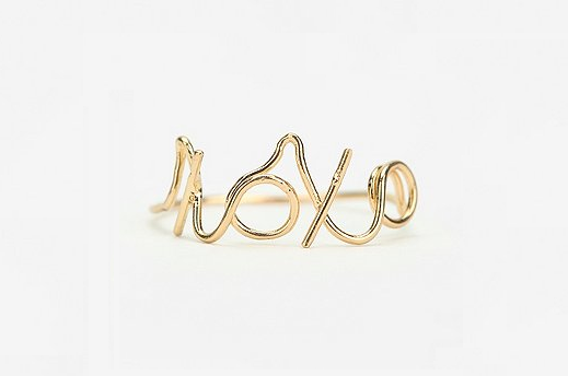 $8, XO Script Ring, Urban Outfit