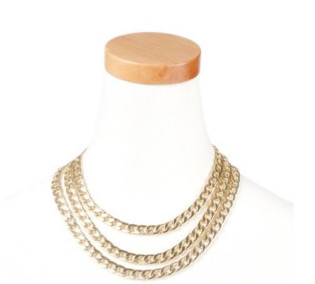 $20, Thick Triple Chain Link Statement Necklace Chain, Claire's