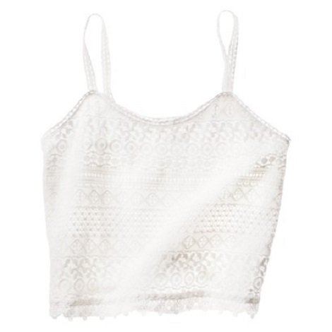 $19.99 Mossimo Supply Co. Junior Cropped Lace Tank, Target