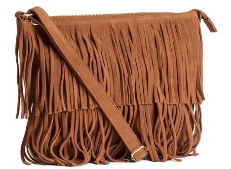 $49.95, Suede Bag with Fringe, H&M