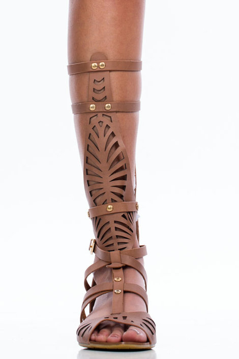 $48.10, Laser Cut Shield Low Wedge Sandals, GoJane.com