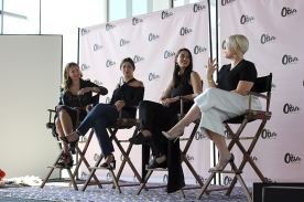Jess Teves, Editor-in-Chief of Stylecaster; Stephanie Mark, co-founder of The Coveteur; Daniella Kallmeyer, designer of Kallmeyer NY; and Melissa Battifarano, design director of Rihanna's Fenty Corp.