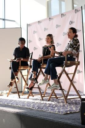 Nikki Ogunnaike, editor at Elle.com; Kit Keenan, student and aspiring filmmaker; and Cynthia Rowley, designer.