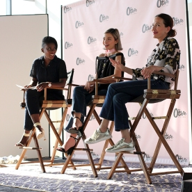 Nikki Ogunnaike, editor at Elle.com; Kit Keenan, student and aspiring filmmaker; and Cynthia Rowley, designer.