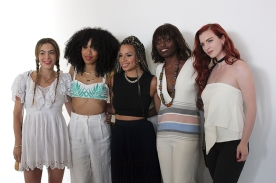 Chelsea Leyland, Kitty Cash, Jasmine Solano, Poku, and Lindsey Stirling
