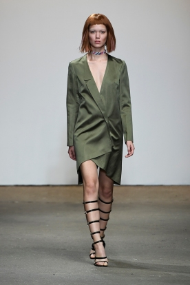 A model walks the runway at the Vivienne Hu Spring/Summer 2017 New York Fashion Week Runway Show during New York Fashion Week at Art Beam on September 11, 2016 in New York City.